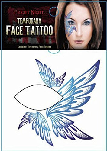 AMA(TM) Halloween Party Temporary Eye Tattoo Makeup Eyeshadow Eyeliner Sticker (A)