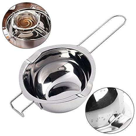 Caldera doble, doble caldera, mango largo resistente al calor, olla de derretimiento de acero inoxidable para chocolate/dulce/mantequilla/queso/caramelo ...