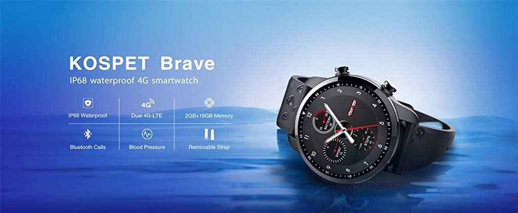 Kospet Brave - Smartwatch 4G 1.3 IPS WiFi Bluetooth Smartwatch ...