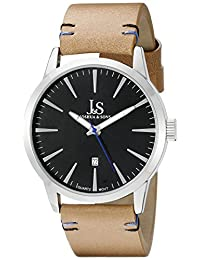 Joshua & Sons Men's JS86TN Analog Display Swiss Quartz Beige Watch