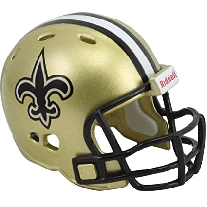 Image Unavailable. Image not available for. Color  Riddell New Orleans  Saints POCKET PRO Mini Football Helmet 8912cfc79