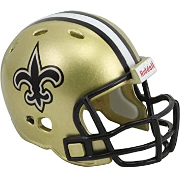 Riddell Revo Pocket Pro - Réplica de casco de los New Orleans Saints
