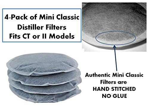 4 Pile of Filters for Mini Classic II Pure Water Countertop Water Distiller