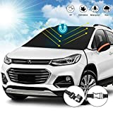 """Upgrade car windshield Snow cover, Universal Car Windshield Snow Ice Cover with magnetic, Sun, Frost Defense, Extra Large Windshield Winter Cover Fits Most Cars and SUV Mirror Covers and (87""""x51.18"""")"""