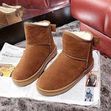 Casual Brown Boots Gll coffee amp;xuezi Winter Comfort Flat Women's Coffee Fabric Heel Flat HAqFwAYx