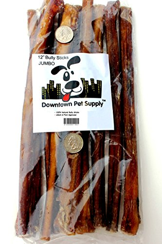 "12"" inch Supreme Bully Sticks, JUMBO EXTRA THICK 10 pack - Downtown Pet Supply™"