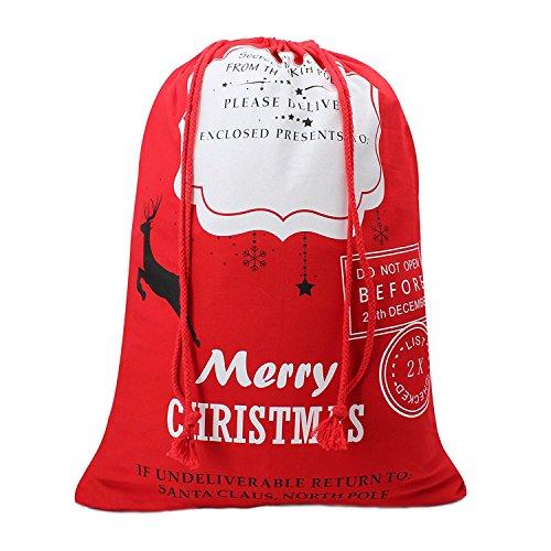 Christmas Gift Sack From Santa North Pole Xmas Present Bag For Kids Christmas Bag Stocking For Self Personalization,Large 28