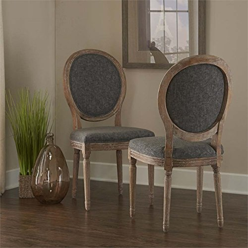 Manchester Dining Chair in Dark Natural Brown Finish - Set of 2