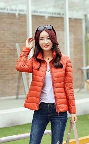 Padded Women's Orange Collar Warm Puffer Stand Jacket Down Generic wIB4q1dw