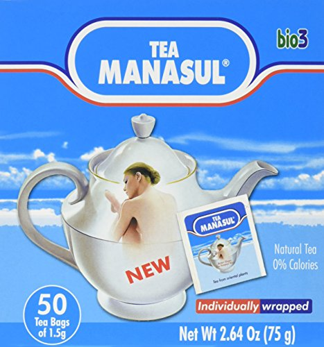 Manasul Tea 50S  50 Total Tea Bags  Te Manasul