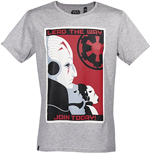 GOZOO Star Wars Classic T-Shirt Herren Imperial - Join Today Grau