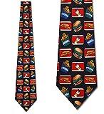 Fast Food Mania tie Mens Necktie