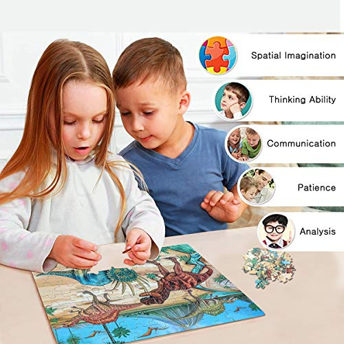 NEILDEN Jigsaw Puzzles,Puzzles for Kids Ages 4-8,100 Piece with Tin Box,Educational Learning Puzzles for Girls and Boys Children,Puzzle Size:11.2
