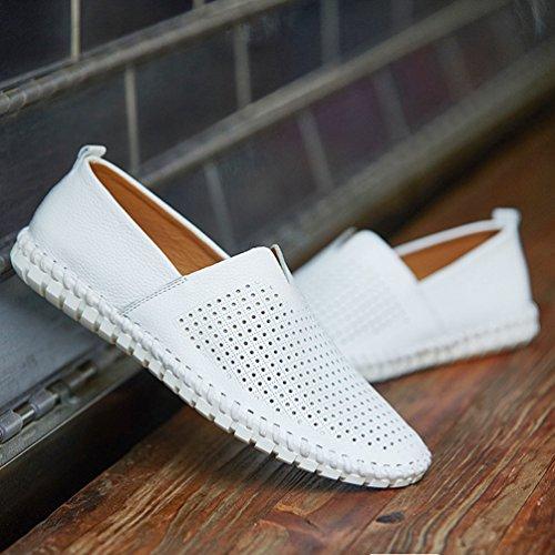 YiLianDa Zapatos Deportivo para Hombre Zapatillas de Hombre Zapatillas de Playa Blanco(estoma)