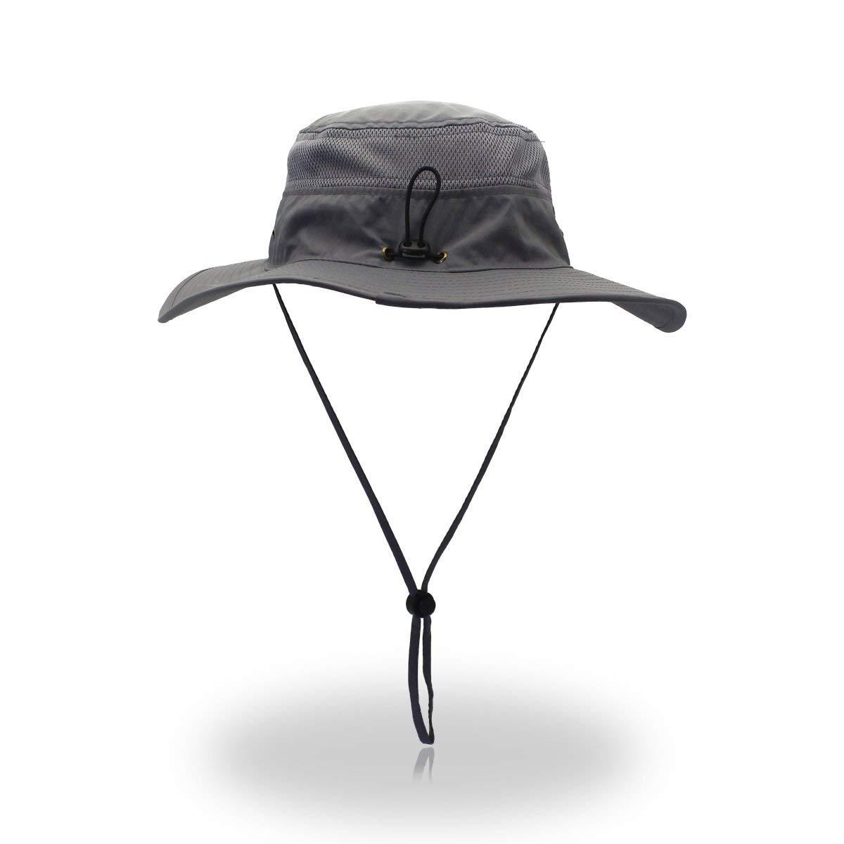 EasyOh Fishing Hat Outdoor UPF 50 Waterproof Boonie Hat Summer UV Protection Sun Caps for Men Women