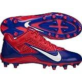 NFL BUFFALO BILLS NIKE MEN'S ALPHA PRO TD SB LOW FOOTBALL CLEATS RED BLUE SIZE 16