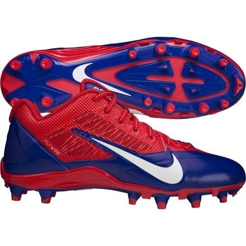 NFL BUFFALO BILLS NIKE MEN'S ALPHA PRO TD SB LOW FOOTBALL CLEATS RED BLUE  SIZE 13.5 US