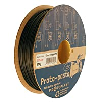 Proto-pasta HTP21705-CF High Temperature Carbon Fiber Spool , PLA 1.75 mm, 500 g , Black by Protoplant INC