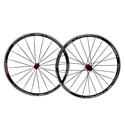 (ZNND 700C Bike Wheelset, Bicycle Wheelset Aluminum Alloy Double Wall Rim Disc V-Brake Sealed Bearings Compatible 8/9/10/11 Speed (Color : A, Size : 700C))