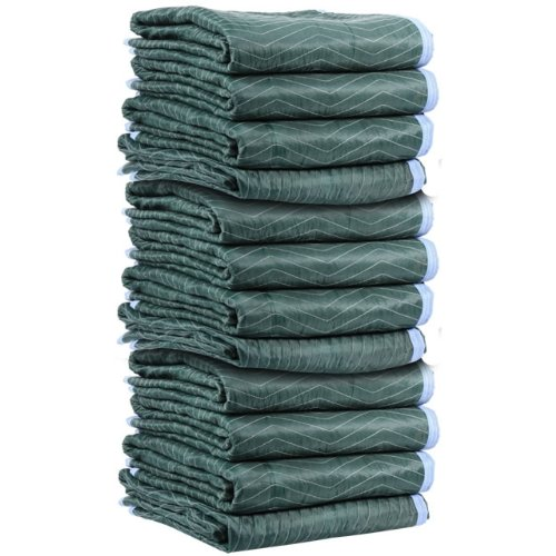 Moving Blanket (12-pack) 72'' X 80'' US Cargo Control - Multi Mover (75 Lbs/dozen, Green/Light Blue) by US Cargo Control