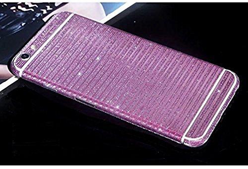 FAS1Neue Version Meteor Dusche Kristall Diamant Sparkling Body Bling Glitzer Aufkleber Skin Film Case für Apple iPhone 6/6S 11,9cm, rose, Horizontal Stripe Style