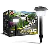 Signature Garden Ultra-Bright 6 Lumen Solar Garden Lights - No Wire Installation,...
