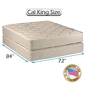 comfort classic gentle firm cal king 72 x84 x9 mattress and box spring set. Black Bedroom Furniture Sets. Home Design Ideas
