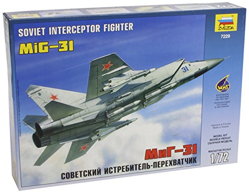 1/72 MIG-31 Fighter Soviet Interceptor Model Kit Russian military armored plane airplane craft aircraft aviation jet Russia Mig Fighter Planes