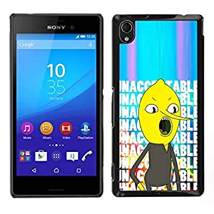 // PHONE CASE GIFT // Duro Estuche protector PC Cáscara Plástico Carcasa Funda Hard Protective Case for Sony Xperia M4 Aqua / unacceptable text comic character /