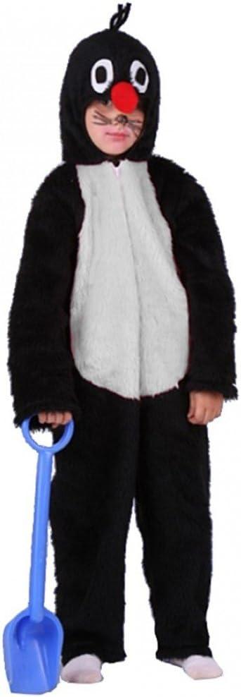 104-140 Overall Plüsch Tierkostüm Kinderfasching Karneval Kostüm Maulwurf Gr