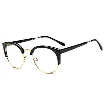 Forepin® Unisex Montura de Gafas Vintage para Hombre y Mujer Retro Transparente con 1/