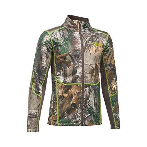Velocity Jacket (Under Armour Boys' Scent Control Camo Jacket, Realtree Ap-Xtra/Velocity, Youth X-Large)