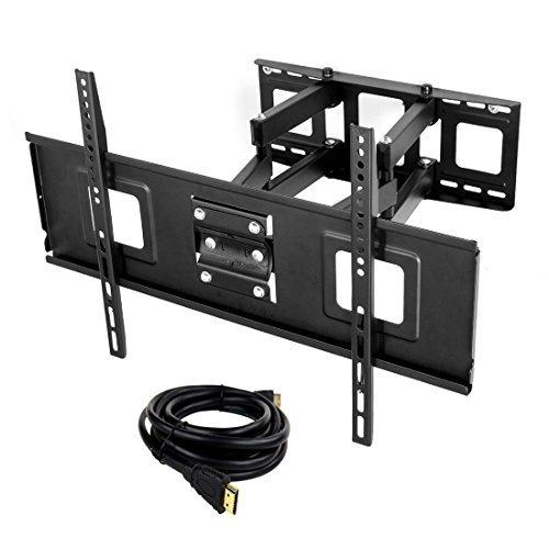 Fleximounts TV Wall Mount Full Motion Articulating Tilting Swivel for Most 32-65 inch TV