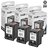 LD Remanufactured Replacement Ink Cartridges for Hewlett Packard CH561WN (HP 61) Black (3 pack)