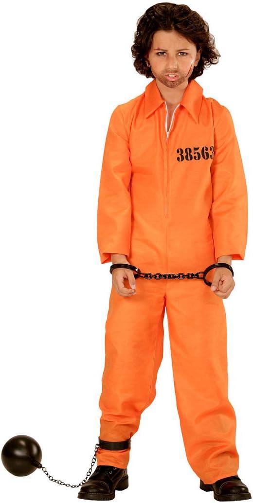 Original Disfraz de preso para niño y niña / Naranja 153 - 158 cm ...
