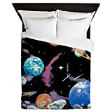 Queen Duvet Cover Solar System And Asteroids
