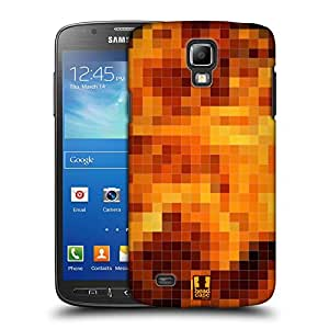 Head Case Designs Fire Pixel Patterns Protective Snap-on Hard Back Case Cover for Samsung Galaxy S4 Active I9295