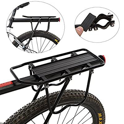 Yahill Adjustable Universal Bike Rear Rack Quick Release Holder Seatpost, Bicycle Carrier with Max Capacity of 165LB