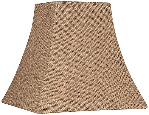 Burlap Square Lamp Shade 5.25/5.25x10x10x9.5 (Spider) - Brentwood