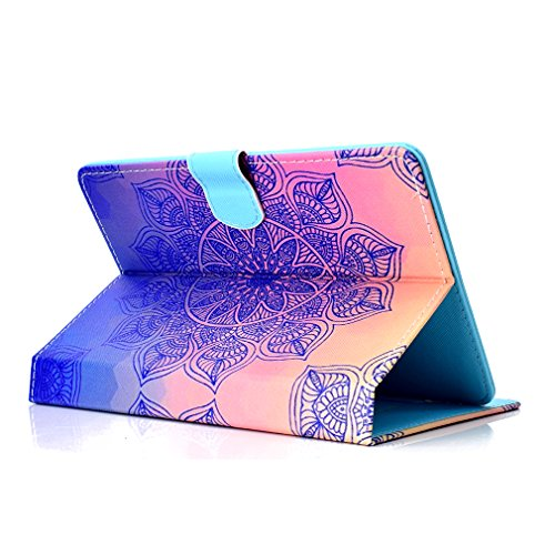 PU Thin Tablet Case LMFULM Closure for 26 Foldable of Color 10 Love Heart Leather 10 Magnetic Slot for Case Stand Card Inch Inch Case Purpose General Pad Ultra Pattern Bookstyle rWY065vwqY