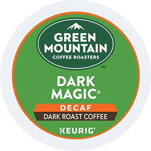 Green Mountain Coffee, Dark Magic Decaf, Single-Serve Keurig K-Cup Pods, Dark Roast, 12 Count, Pack of 6 by Green Mountain Coffee Roasters