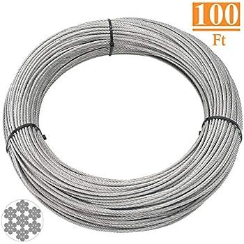 Amazon.com: DasMarine - Cable de alambre de acero inoxidable ...