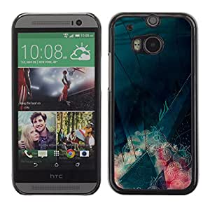 MOBMART Carcasa Funda Case Cover Armor Shell PARA HTC One M8 - Microbiotics Under The Sea