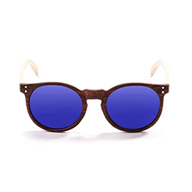 Ocean Sunglasses Cool Lunettes de soleil Bamboo Brown Frame/Wood Natural Arms/Revo Green Lens afziVyRU
