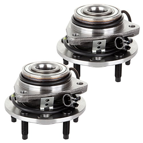 ECCPP Front Wheel Hub Bearing Assembly 5 Lugs W/ABS for 1998-2004 Chevy GMC 513124 2pcs ()