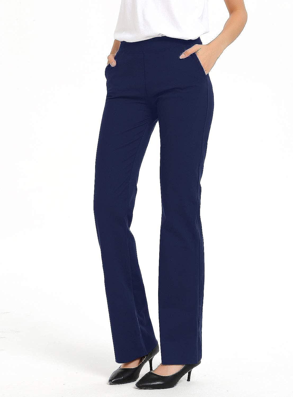 2//4 Pockets Safort 28//30//32//34 Inseam Regular//Tall Bootcut Yoga Pants UPF50+