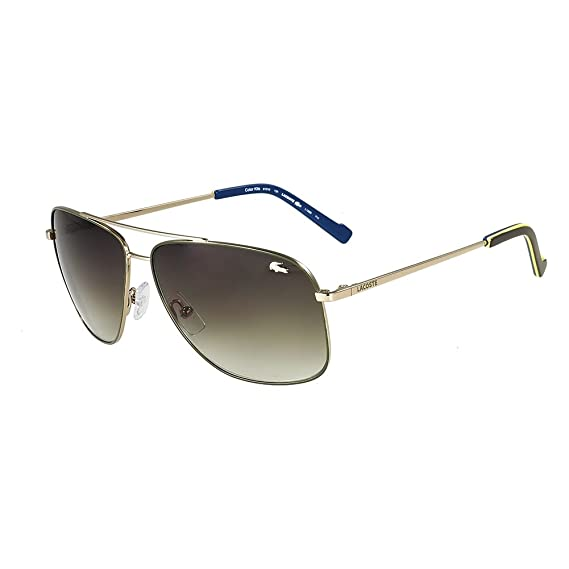 9b888558d83 Lacoste L128S 714 Gold Green Sunglasses  Amazon.in  Clothing   Accessories