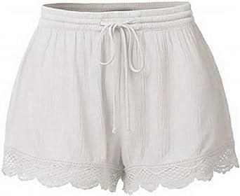 Luckycat Pantalones Cortos de Suelto para Mujer Talla Grande ...