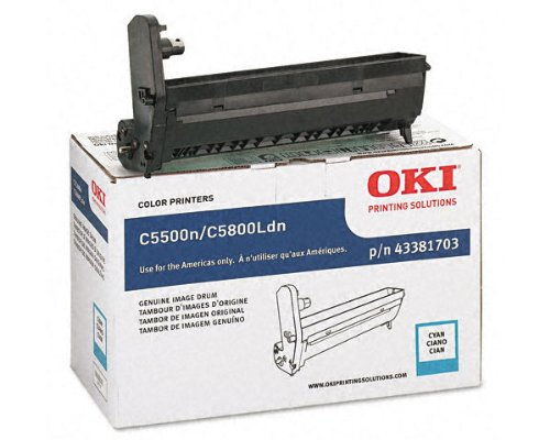 OKI43381703 - Oki Cyan Image Drum For C5500n and C5800Ldn Printers