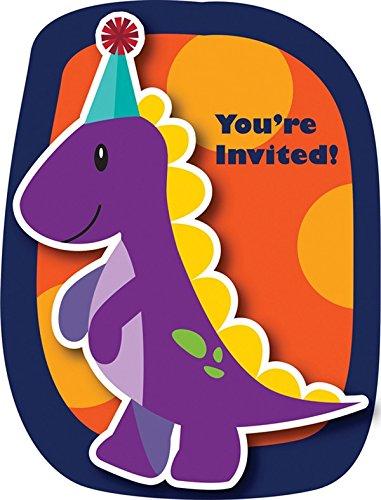 8 Tarjetas de invitación cumpleaños dinosaurio bebé: Amazon ...